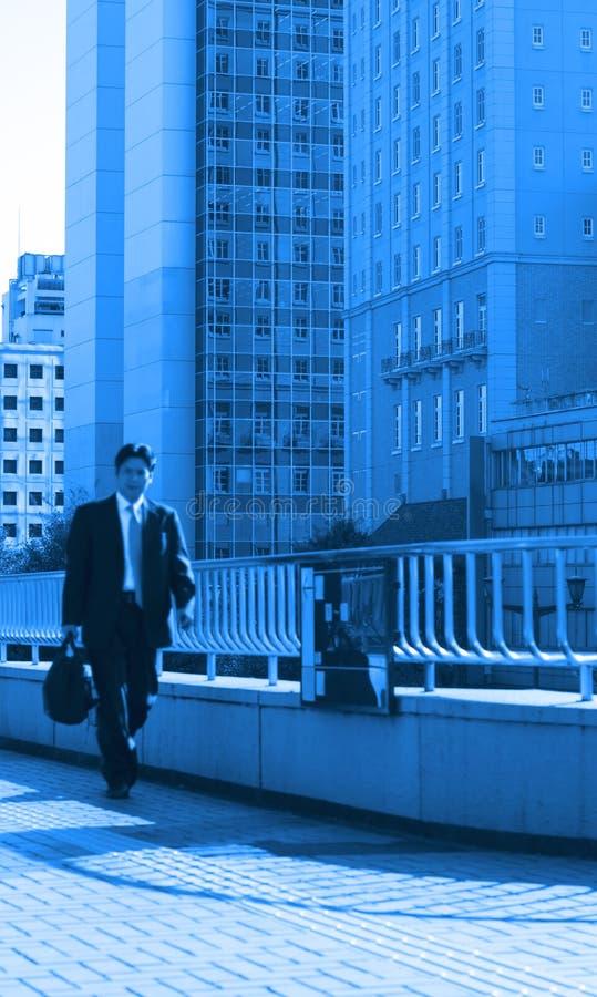 蓝色企业世界 库存图片