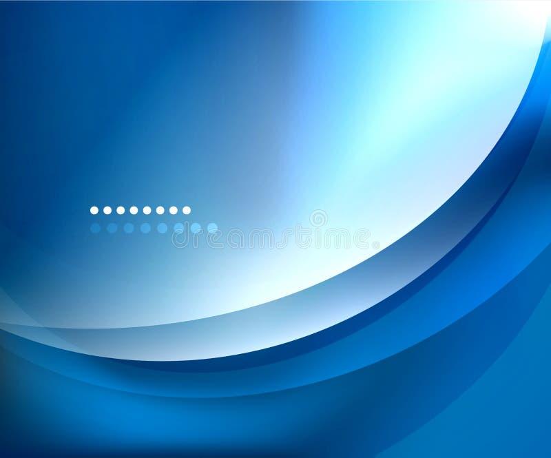 蓝色使通知模板光滑 向量例证