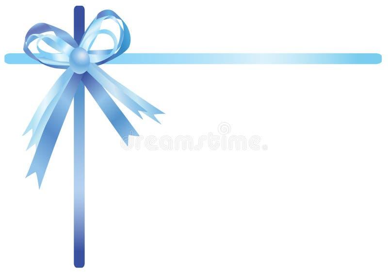 蓝色例证丝带 库存例证