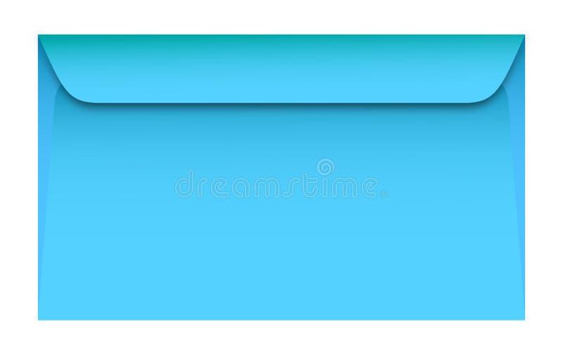 蓝色信封神色,如他们真正地是 库存例证