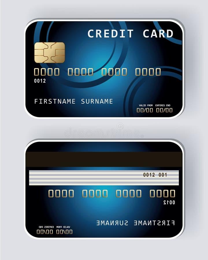 蓝色信用卡银行业务概念 向量例证