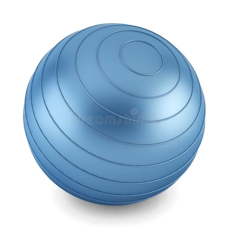 蓝色健身球 库存例证