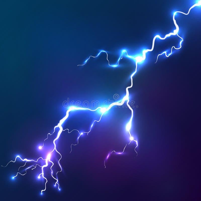 蓝色光亮的传染媒介闪电背景 皇族释放例证