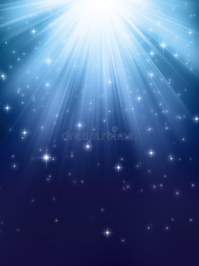 蓝色光亮的光 库存例证