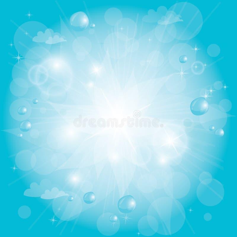 蓝色光亮的天空 向量例证