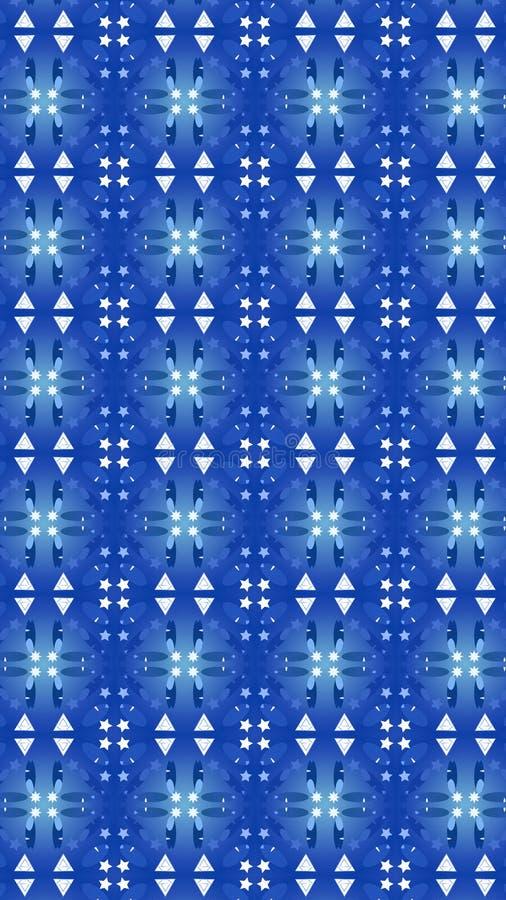 蓝色光样式 您的流动屏幕的节日设计 库存例证