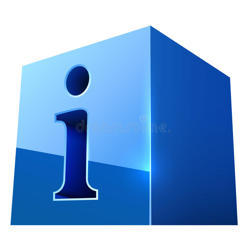 蓝色光滑的信息符号 皇族释放例证