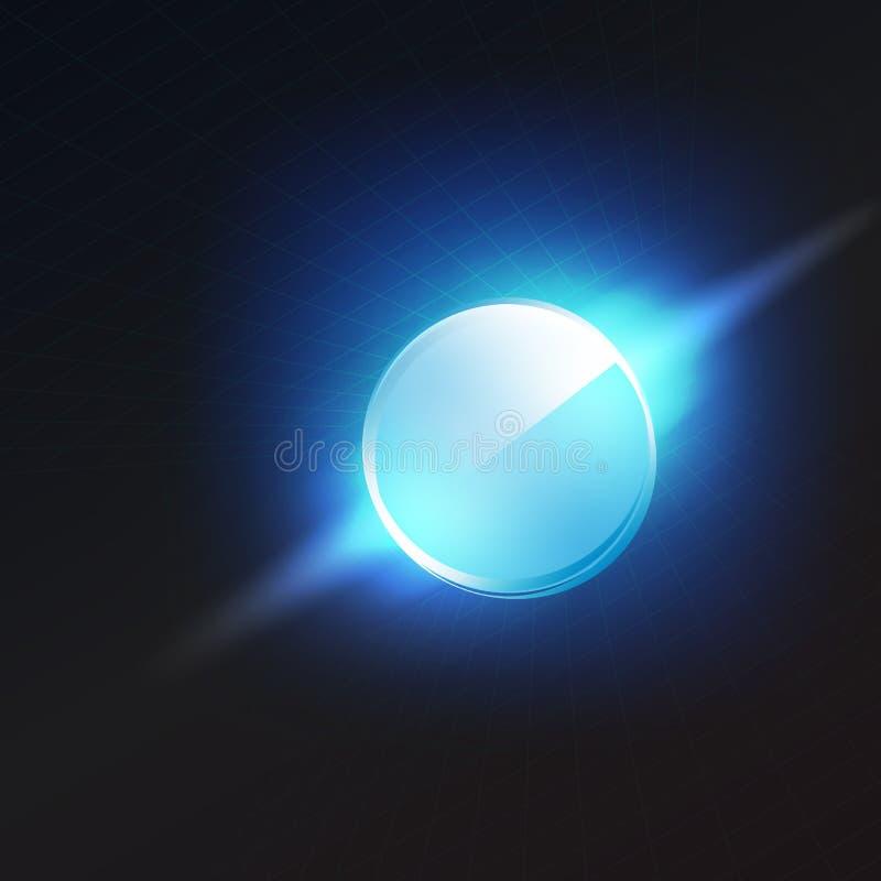 蓝色光滑的圈子 库存例证
