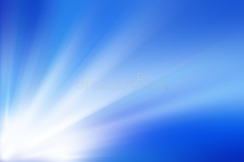 蓝色光爆炸 皇族释放例证