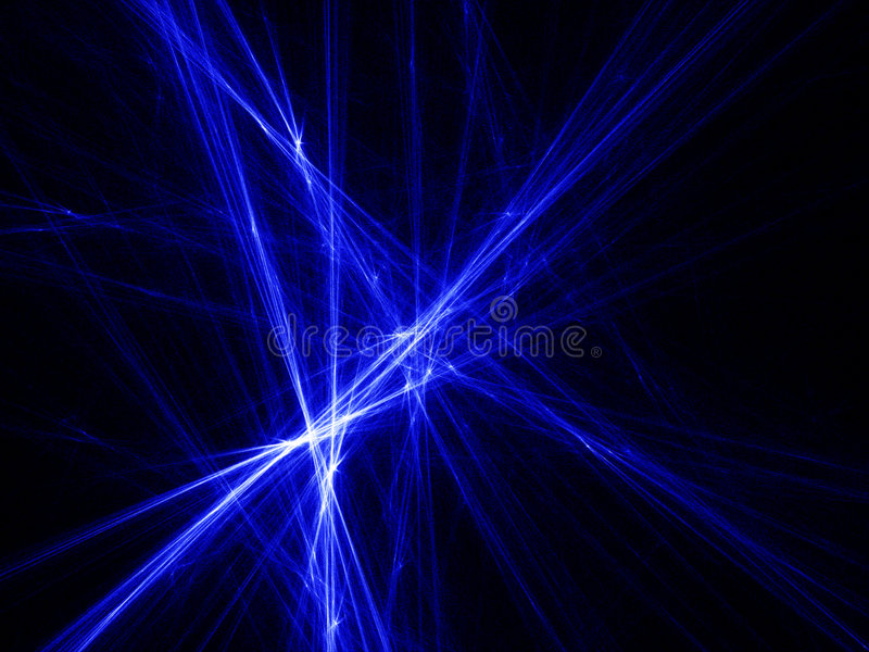 蓝色光线 向量例证