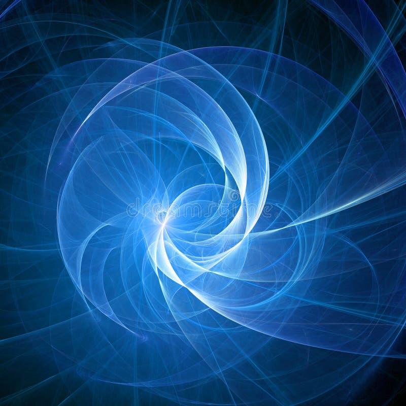 蓝色光芒螺旋 皇族释放例证