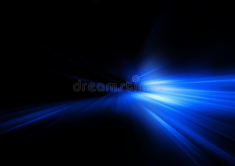蓝色光芒 库存图片