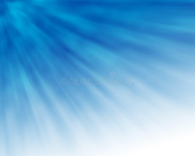 蓝色光芒 库存例证