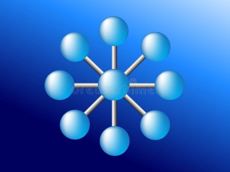 蓝色全球性netword连接网 皇族释放例证