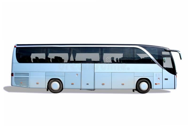 蓝色公共汽车 免版税库存照片