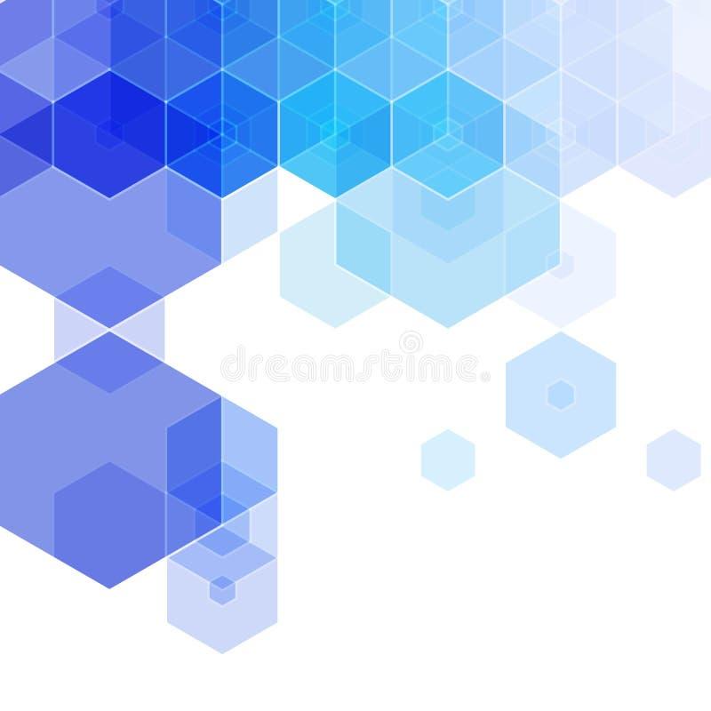 蓝色六角形背景 r : 10 eps 库存例证
