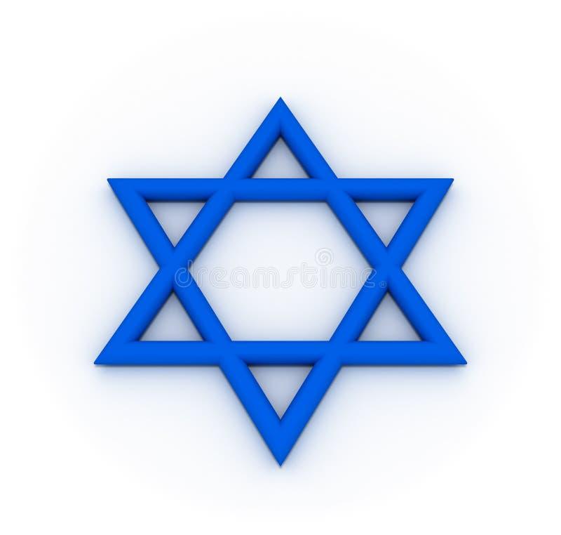 蓝色六角星形 皇族释放例证