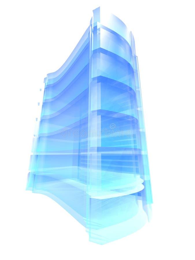 蓝色农厂服务器 向量例证