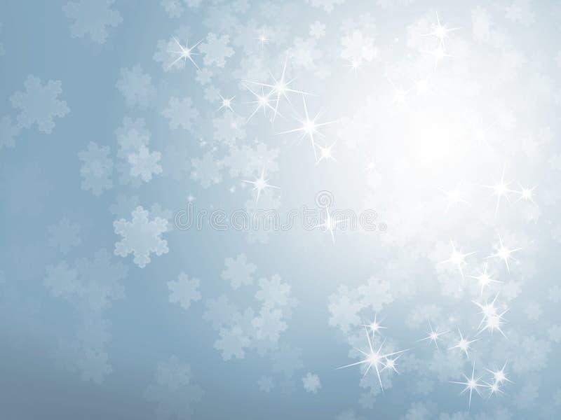 蓝色冬天背景 库存照片