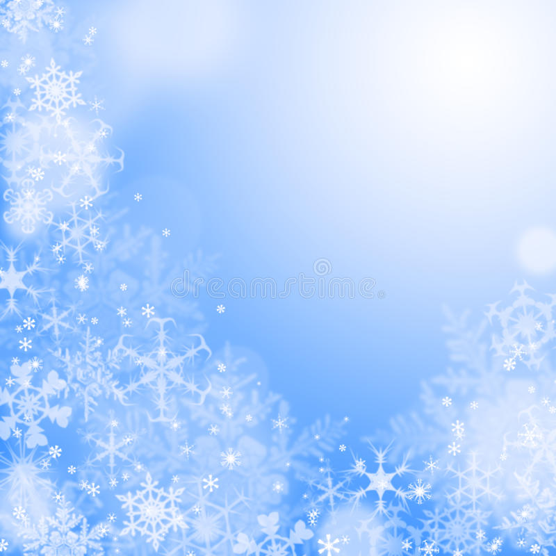 蓝色冬天wallaper 皇族释放例证