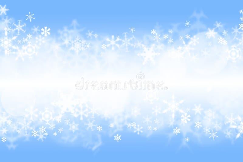 蓝色冬天wallaper 免版税图库摄影