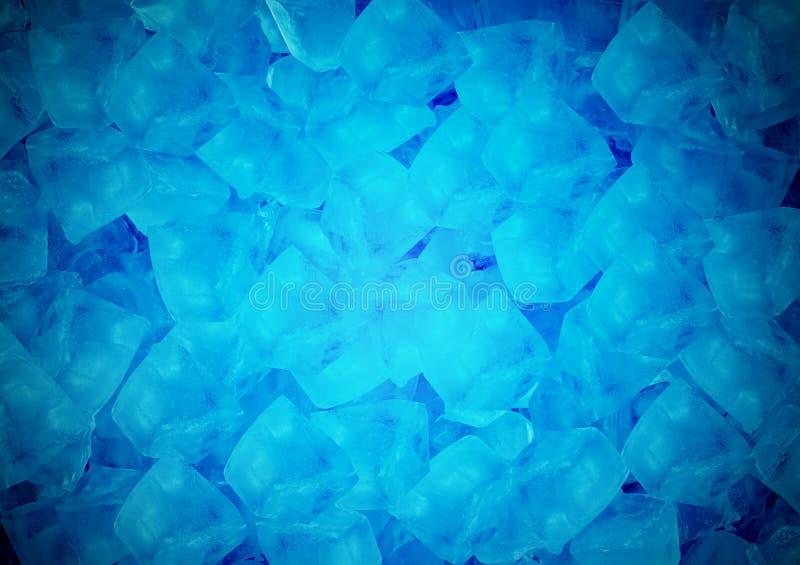 蓝色冰块背景 库存照片