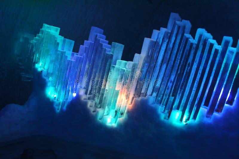 蓝色冰显示 免版税图库摄影