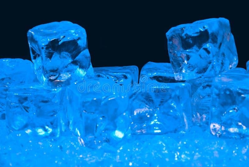 蓝色冰 库存图片