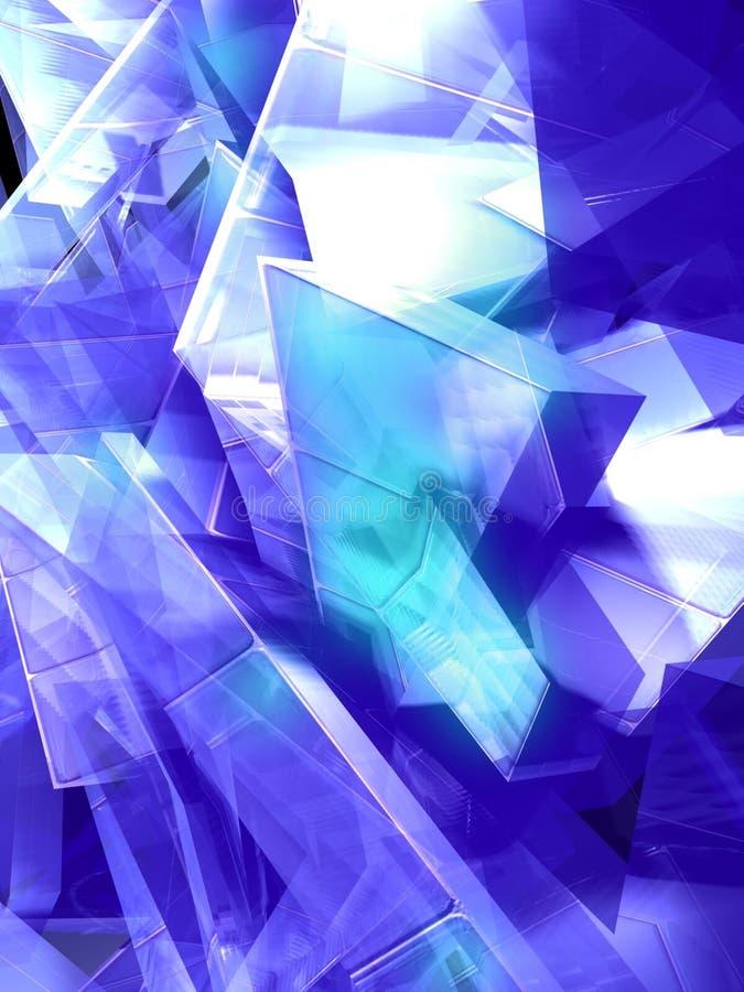 蓝色冰 皇族释放例证