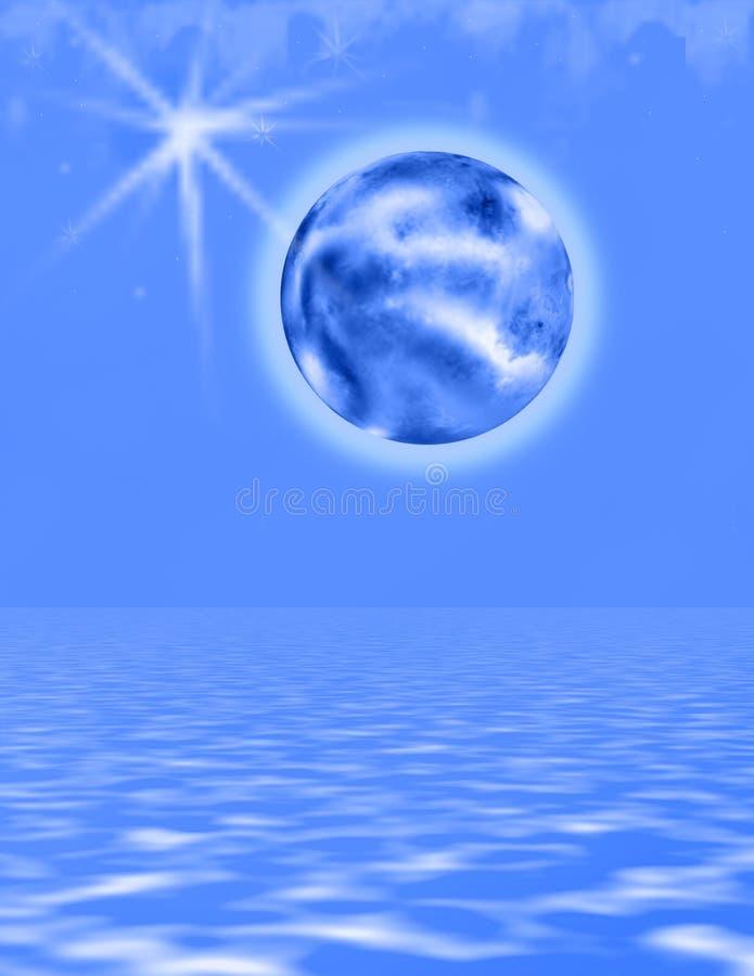 蓝色冷世界 向量例证