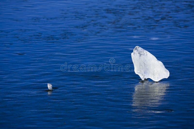 蓝色冷静冰 库存照片
