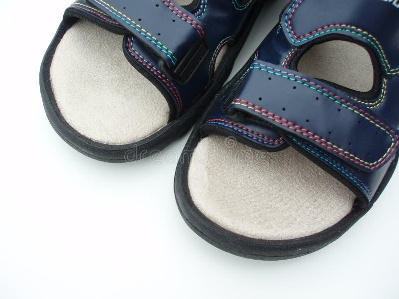 蓝色凉鞋 免版税库存图片