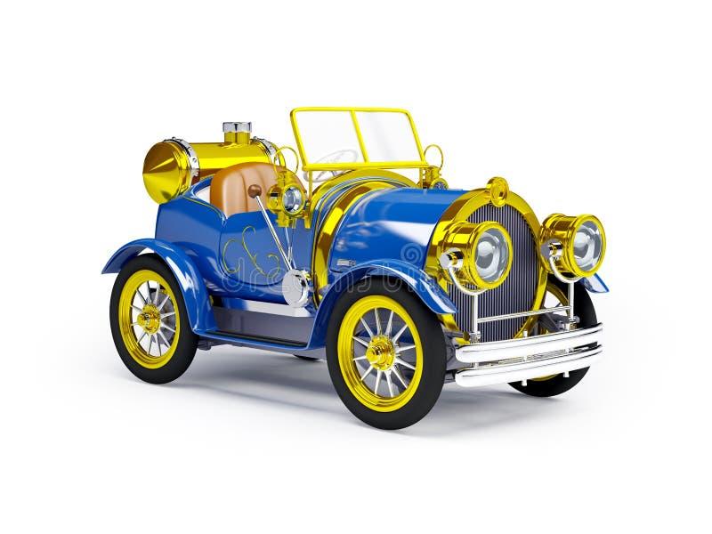 1910蓝色减速火箭的汽车 皇族释放例证