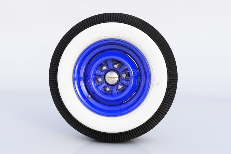 蓝色减速火箭的轮子 3d回报 库存例证