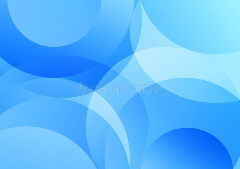 蓝色几何曲线为抽象背景构造 皇族释放例证
