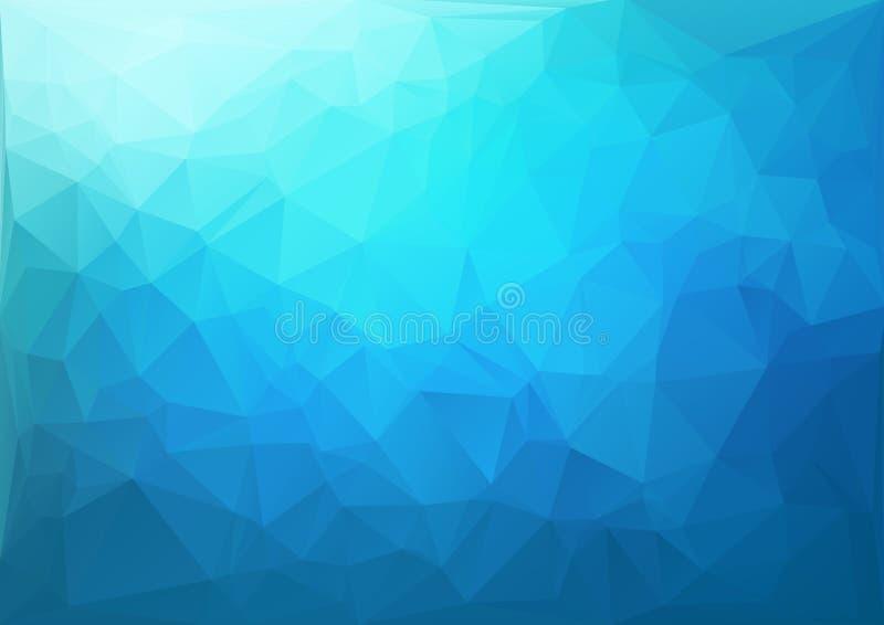 蓝色几何模式 向量例证
