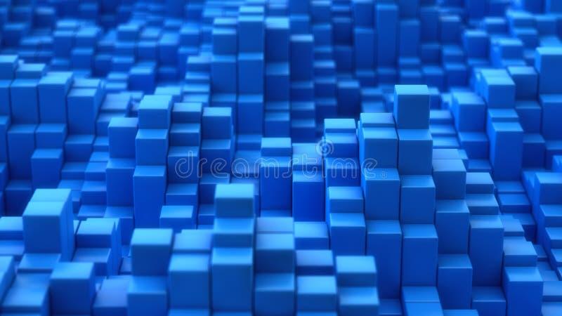蓝色凸面纹理 库存例证