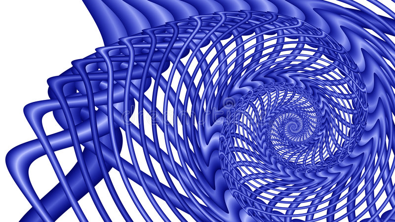 蓝色分数维图象旋涡 向量例证