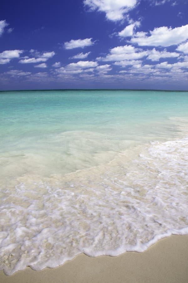 蓝色加勒比视图 免版税库存照片