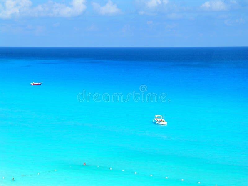 蓝色加勒比 免版税库存照片