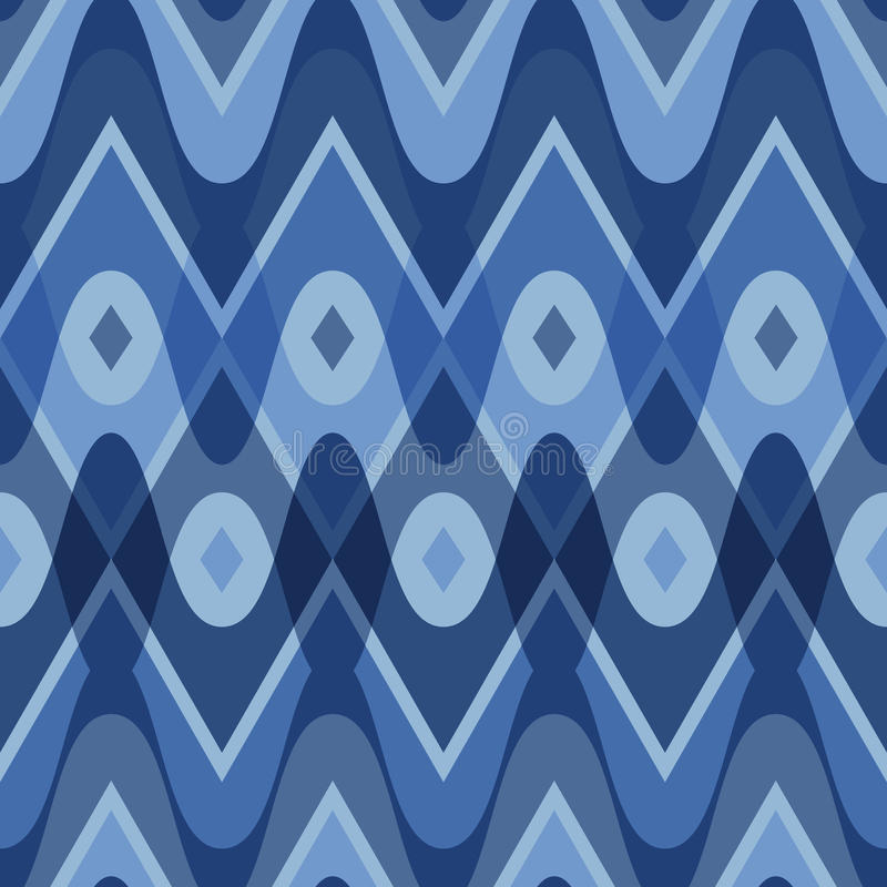 蓝色加调料烘烤的无缝的样式 向量例证