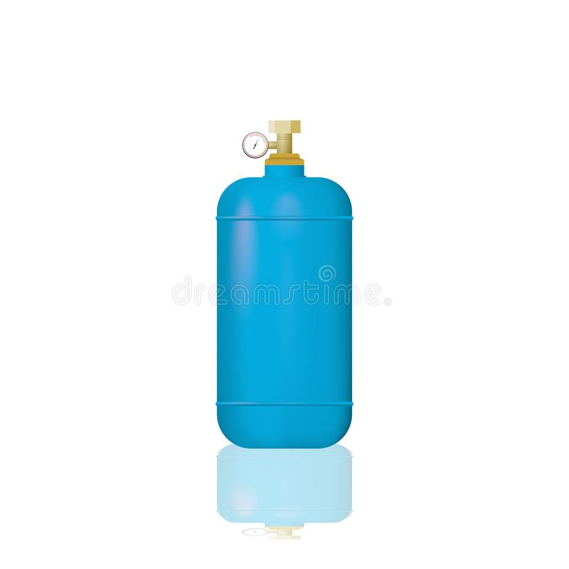 蓝色医疗氧气瓶 库存例证