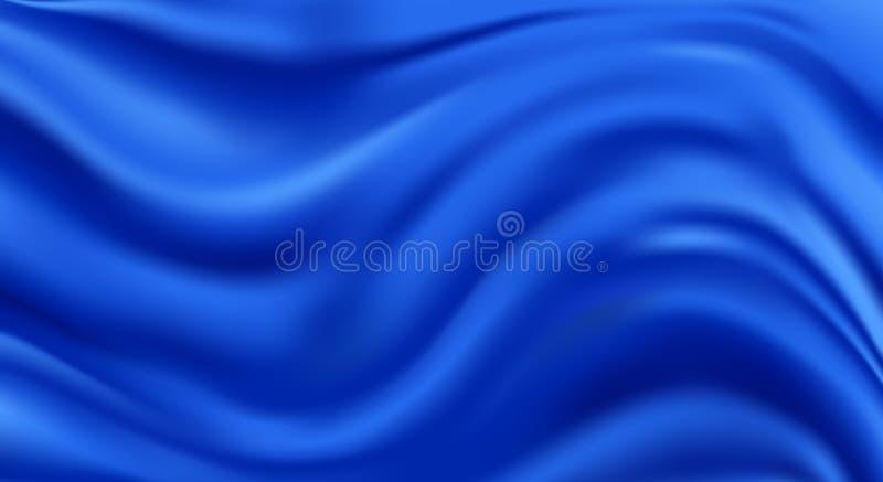 蓝色午夜丝绸 皇族释放例证