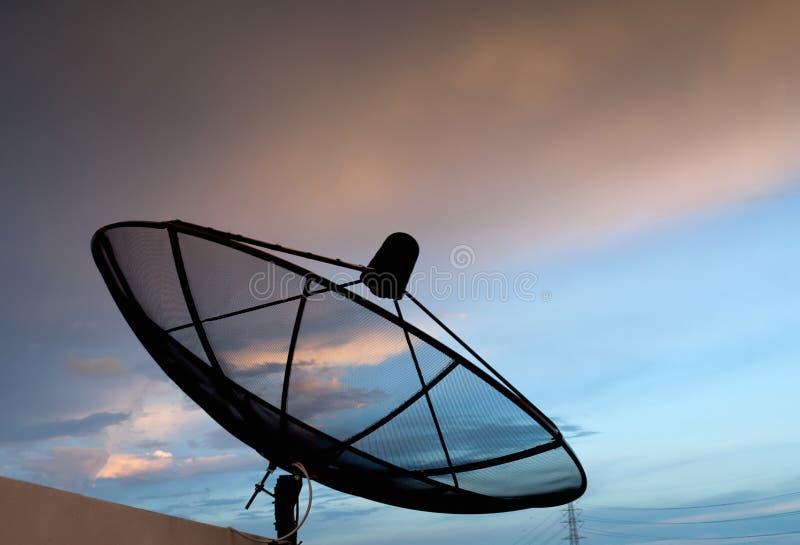 蓝色卫星天空 库存照片