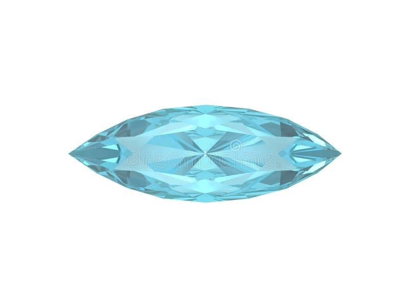 蓝色卵形形状黄玉白色 库存例证