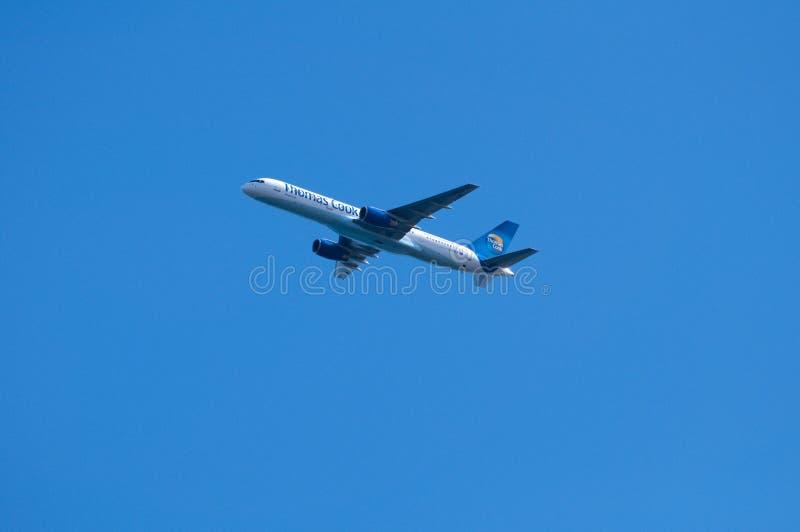 蓝色厨师喷气机天空托马斯 免版税库存照片