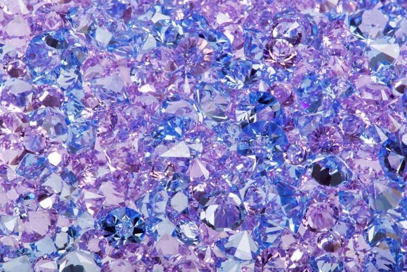 蓝色发光的宝石特写镜头照片 免版税库存照片
