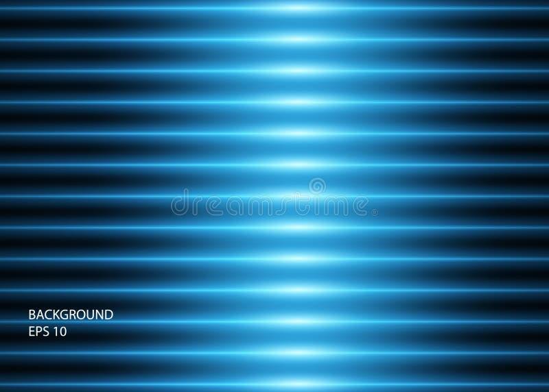 蓝色发光的霓虹线或光抽象背景  r 皇族释放例证