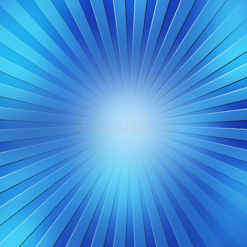 蓝色发出光线抽象背景 皇族释放例证