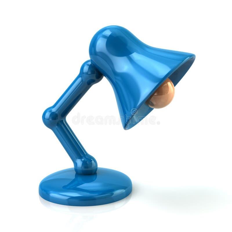 蓝色台灯 向量例证
